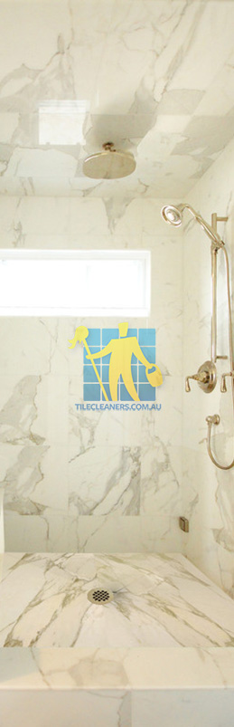 marble tiles shower wall floor calcutta polished luxury bathroom Perth