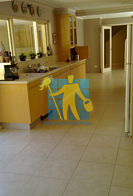 porcelain tiles floor inside furnished home after cleaning kitchen floors perth