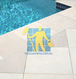 outdoor sandstone tile pool snow white perth