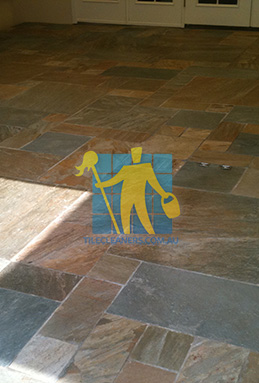 clean slate tiles unsealed after stripping and cleaning perth cleaning